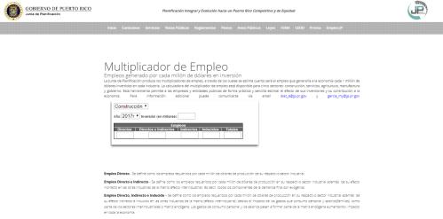 Calculadora de Empleo